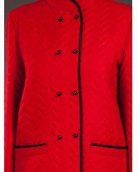 Guy Laroche Red Mandarin Collar Jacket