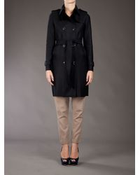 Harris Wharf London Black Wool Trenchcoat