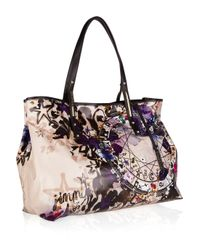 Jimmy Choo | Multicolor Scarlet Printed Glazed-canvas Tote | Lyst