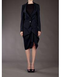 Vivienne Westwood Red Label Blue Gathered Skirt