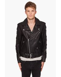 3.1 Phillip Lim | Black Moto Leather Jacket for Men | Lyst