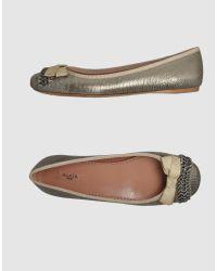 Alaïa Chain-embellished Metallic Leather Ballet Flats