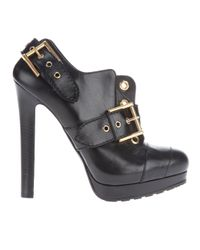 Alexander McQueen | Black Buckle Ankle Boot | Lyst