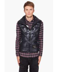 DIESEL - Black Wakko Nylon Puffer Vest for Men - Lyst