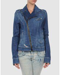 DIESEL | Blue Denim Outerwear | Lyst