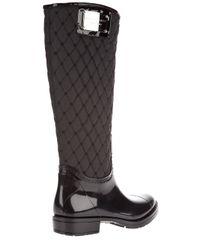 Gianmarco Lorenzi Black Rubber Boots