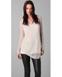 Helmut Lang | White Asymmetrical Hem Sweater | Lyst