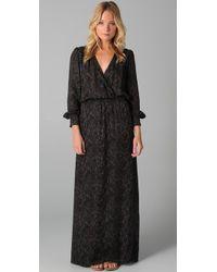 Parker | Black Long Sleeve Maxi Dress | Lyst