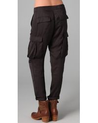 Rag & Bone | Gray Silk Cargo Pants | Lyst
