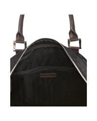 Joseph Abboud | Black Double Top Handle Messenger Travel Bag for Men | Lyst