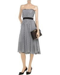 Luisa Beccaria Black Gingham Cotton Dress
