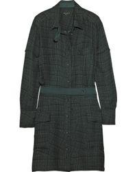 Rag & Bone Green Somerset Checked Silk Shirt Dress
