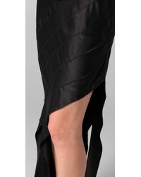 Alexander Wang | Black Bias Streamer Skirt | Lyst