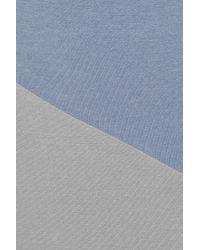 Jonathan Saunders Gray Ornella Block-color Jersey Maxi Dress