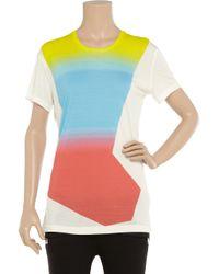 Jonathan Saunders White Printed Jersey Boyfriend-fit T-shirt