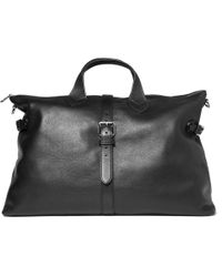 Mulberry | Albert Heavy Pebbled Leather Holdall Black for Men | Lyst