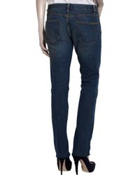 Tory Burch Blue Slouchy Slim Low-rise Jeans