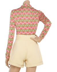 Tory Burch Pink Sulpice Silk-jersey Shirt