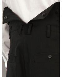 Yohji Yamamoto Black High Waisted Trouser for men