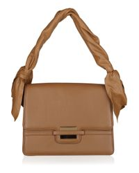 Z Spoke by Zac Posen Brown Twist-strap Leather Bag