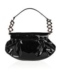Pauric Sweeney Black Patent-leather Shoulder Bag