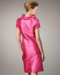 Tahari   Pink Ruffle-detail Shantung Suit   Lyst