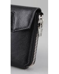 Alexander Wang Black Quillon Compact Wallet