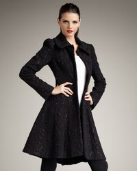 Alice + Olivia | Black Bennett Flared Coat | Lyst