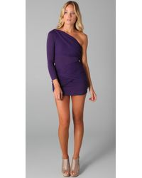Alice + Olivia | Purple One Shoulder Goddess Dress | Lyst