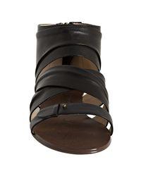 Boutique 9   Black Leather Gilla Gladiator Flat Sandals   Lyst