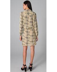 By Malene Birger - Natural Pazo Snake Print Wrap Dress - Lyst