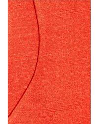 Calvin Klein Orange Gweru Washed-shantung Silk Dress