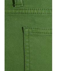 Daks Green Mid-rise Straight-leg Jeans