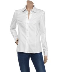 Daks White Chambray Shirt