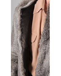 Hanii Y | Gray Rabbit Fur Jacket | Lyst