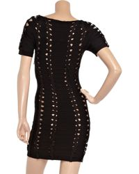 Hervé Léger - Black Handwoven Bandage Dress - Lyst