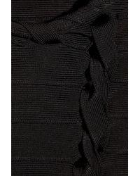 Hervé Léger Black Handwoven Bandage Dress