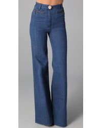 Lover | Blue Wide Leg Jeans | Lyst