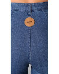 Lover - Blue Wide Leg Jeans - Lyst