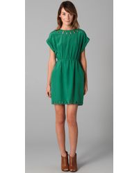 Madewell | Green Cutout T Shirt Dress | Lyst