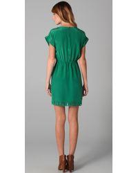 Madewell - Green Cutout T Shirt Dress - Lyst
