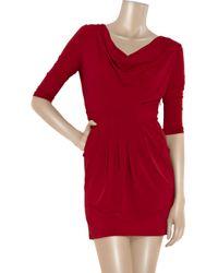 Paul & Joe | Red Andromed Cowl-neck Jersey Dress | Lyst