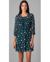 Rebecca Taylor | Blue Ghost Flower Dress | Lyst