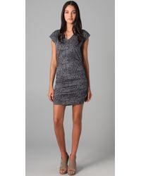 Rebecca Taylor | Gray Snake Print Dress | Lyst