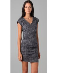 Rebecca Taylor - Gray Snake Print Dress - Lyst