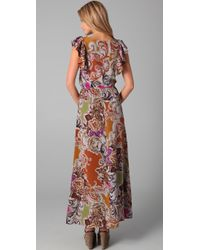 Sunner - Multicolor Willow Long Print Dress - Lyst