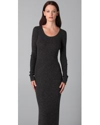 T By Alexander Wang | Gray 1x1 Maxi Sweater Dress | Lyst