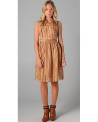 Tory Burch | Brown Hildy Dress | Lyst