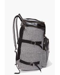 DIESEL | Gray Denim Backpack With Coated Stripe for Men | Lyst
