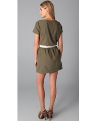 American Vintage | Green Drop Waist Dress | Lyst